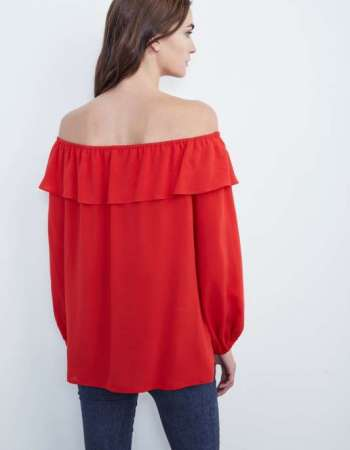 Ibby Blouse Red