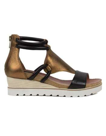Bronze and Black Sandal