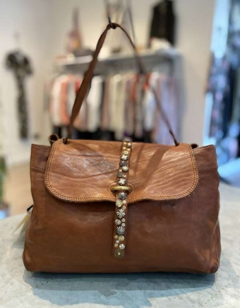 Large Cognac Shoulder Bag