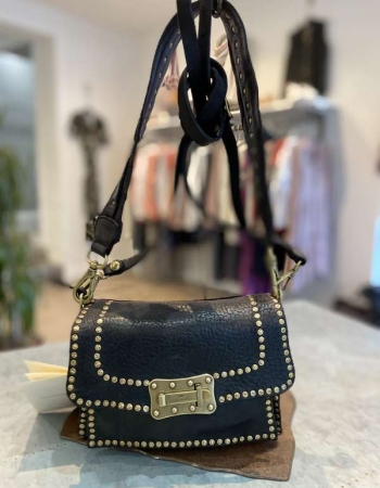 Studded Black Shoulder Bag