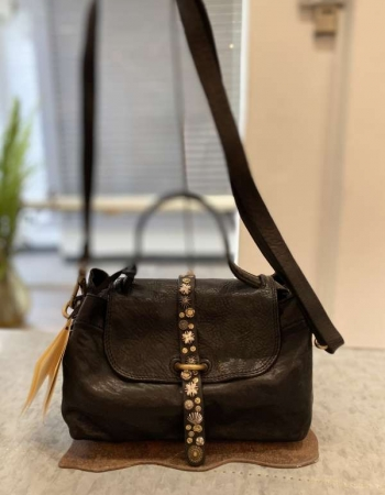 Small leather bag with studded detail