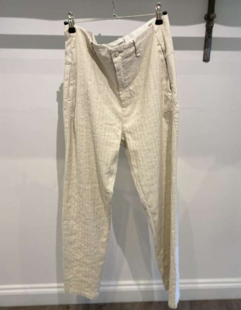 Chalk Linen Trousers