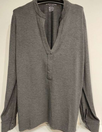 Anthracite V Neck Top