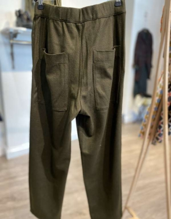 Forest Green Wool Trousers