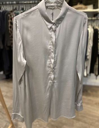 Silk Blouse Silver Grey