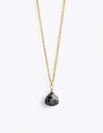 Obsidian Gold Chain