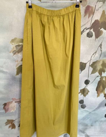Ochre Paper Cotton Skirt
