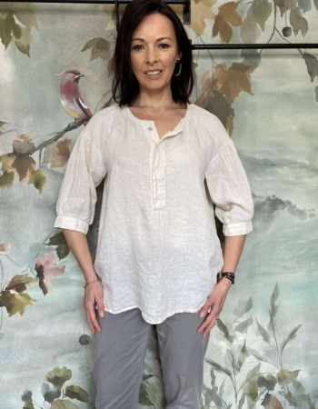 Transit Cream Linen Blouse