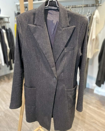 Long Line Wool Jacket