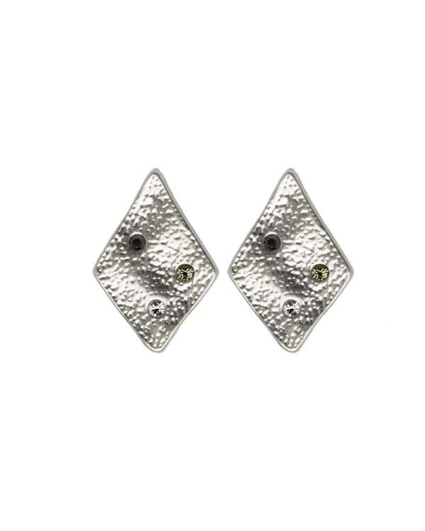 Large Rhombus Studs Silver